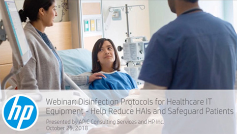 HP/HIMSS Webinar: Disinfection Protocols for Healthcare IT Equipment