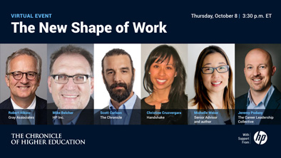The New Shape of Work (Oct. 8)